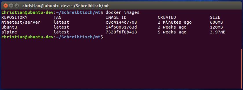 Dockerize the Minetest server